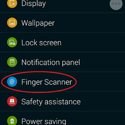 Samsung fingerprint lock-Finger Scanner option