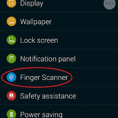Samsung-Fingerabdrucksperre Scanner