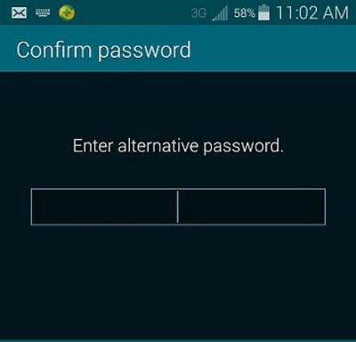 Samsung Samsung-Fingerabdrucksperre in alternative Passwort