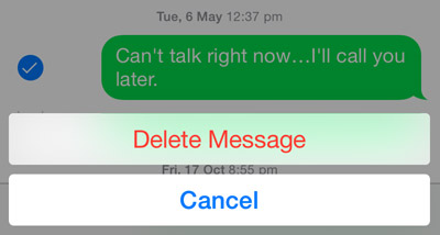 delete messages in ios