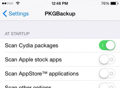 step 3 to backup jailbreak app
