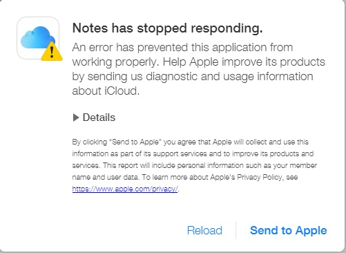 why Notes not sync with iCloud