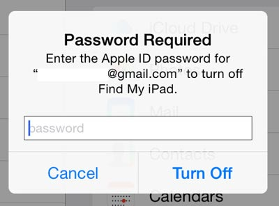 change icloud account-find my ipad iphone