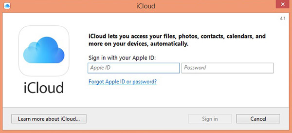 sign in to change icloud plan
