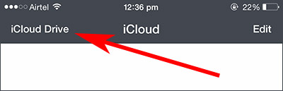select icloud drive to access files from icloud
