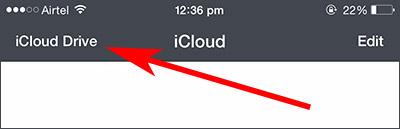 iCloud Drive wählen, um auf iCloud-Dateien zuzugreifen