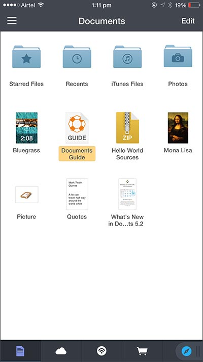 access files from icloud via apps