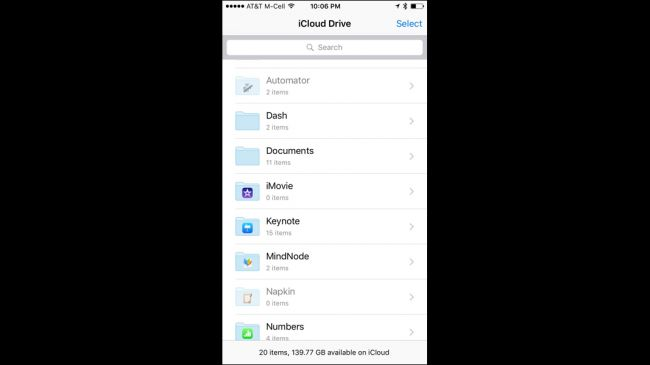 open to save email attachment to icloud drive