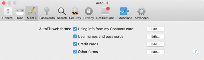 select categories to setup and use icloud keychain