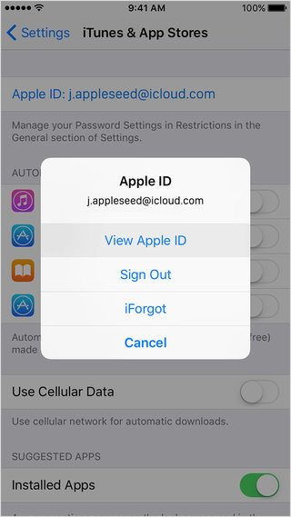 show your forgot apple id