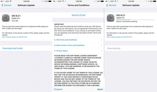 Apple Lanza Nueva Actualización para Corregir Errores con iOS 9.3
