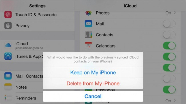 excluir multiplos contatos do icloud sem usar um pc