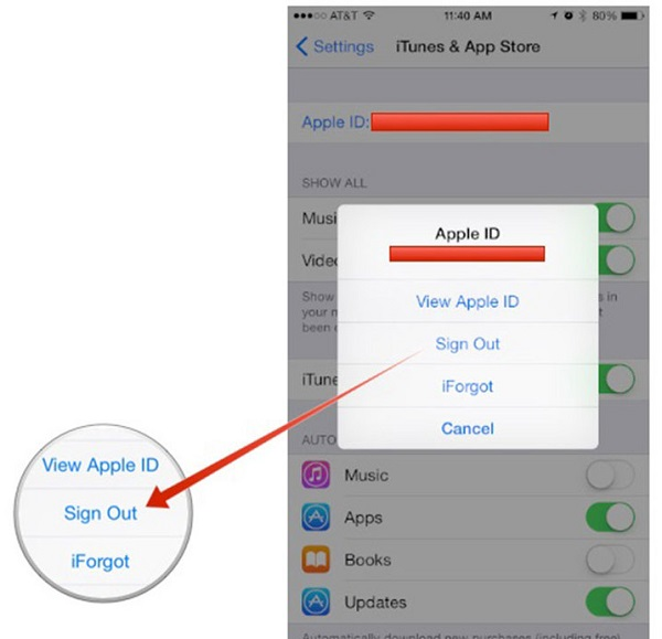 steps to change iTunes account on iPhone or iPad
