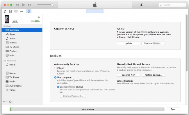 Transfer Music from Mac to iPod with iTunes-Launch iTunes