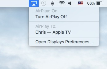 airplay iphone naar mac - uitschakelen van AirPlay