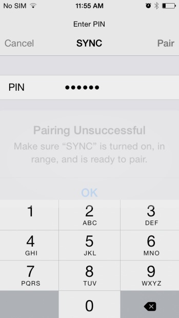 Ford sync iPhone - step 9 for Pairing Your Phone with Ford SYNC