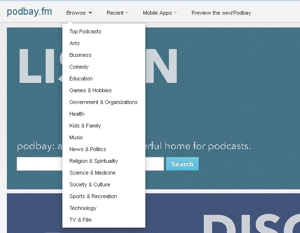 Download Podcasts without iTunes - Click Browse