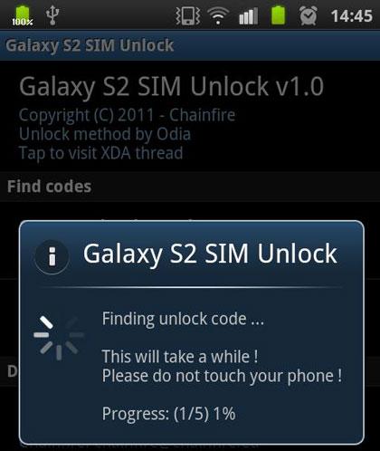 Samsung aufheben