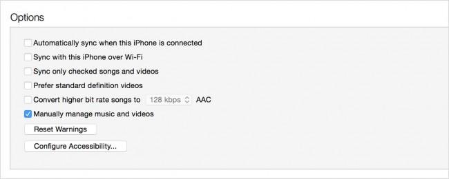 在iPod上编辑播放列表 - 手动管理音乐和视频
