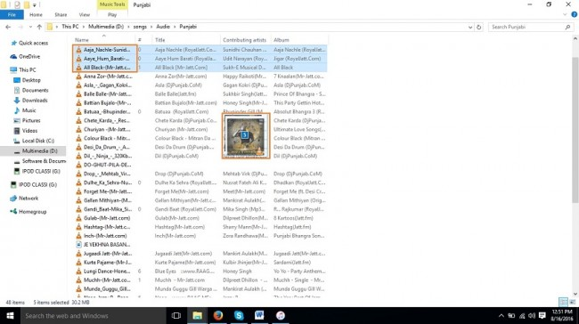 Edit Playlist on iPod-select songs