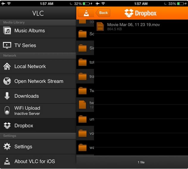 Tips for Using VLC for iPhone - View Dropbox Videos on iPhone