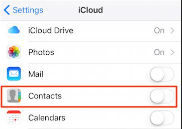 How to transfer contacts from iPhone to Samsung S8-icloud