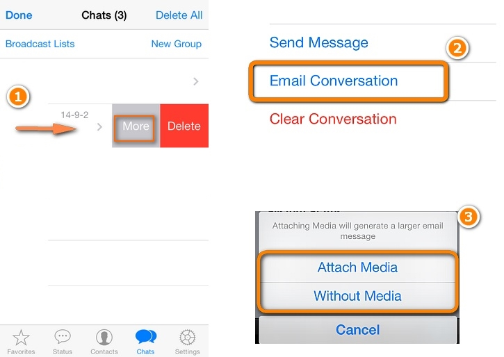 whatsapp Fotos von iPhone zu PC/Mac -WhatsApp Chats per Mail versenden