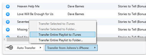 Export iTunes Playlists to iPhone/iPad/iPod-Transfer Entire Playlist to iTunes
