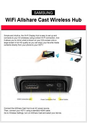 use Allshare Cast to turn on screen mirroring on Samsung Galaxy-All-Share Cast Wireless Hub