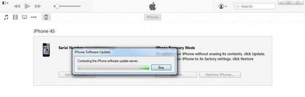 start to get iPhone out of Recovery Mode with iTunes