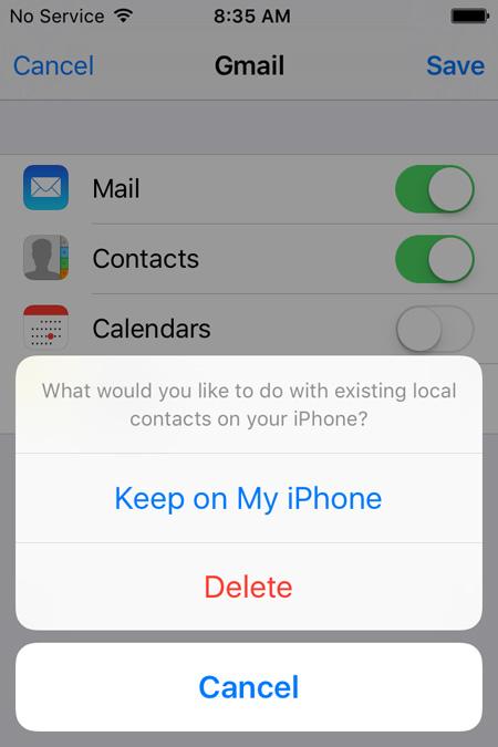 restaurar contatos do iphone do gmail