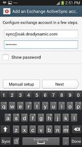 Samsung Auto Backup-type in your email ID