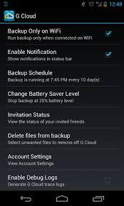Samsung Auto Backup-see the option of Cloud