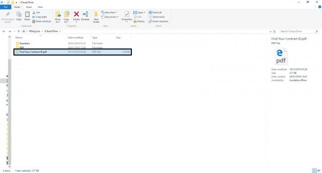 使用iCloud将PDF文件从PC传输到iPad  - 将PDF文件拖放到文件夹中
