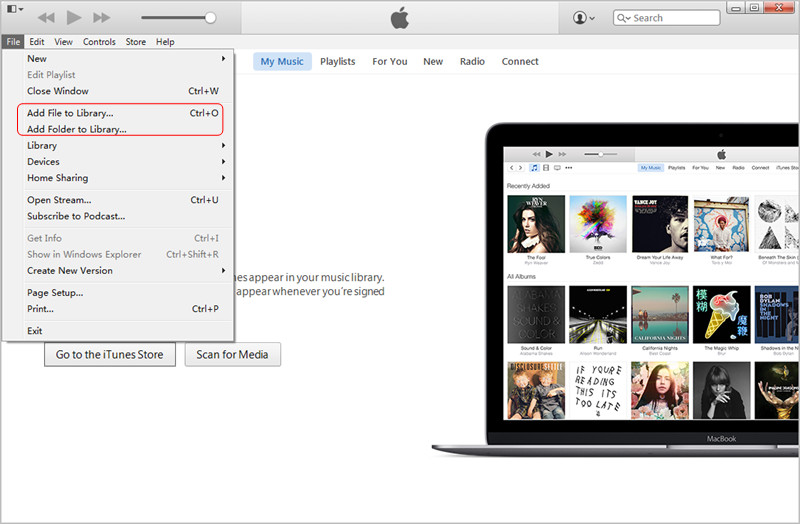 Transfer MP3 to iPad with iTunes: Add Files to iTunes Library