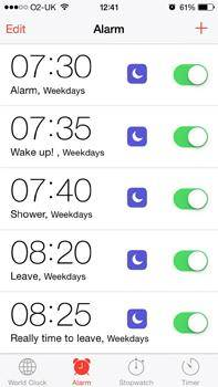 iPhone alarm problems