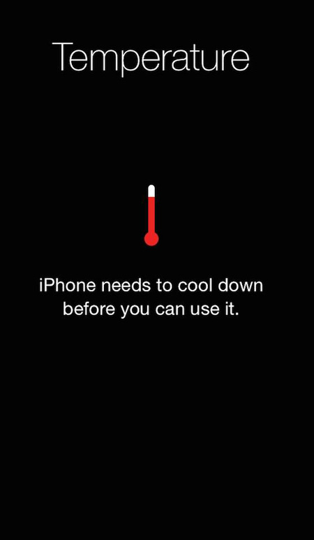 iPhone overheating