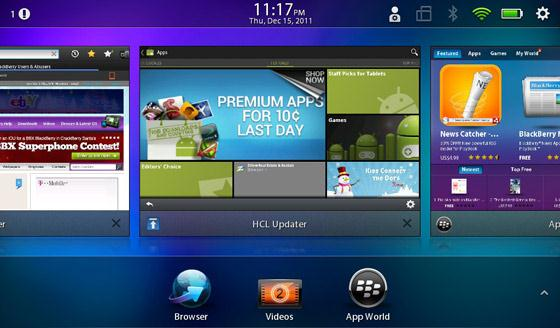 Applis Android pour BlackBerry Playbook