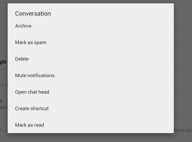 open up conversation list to recover facebook messages