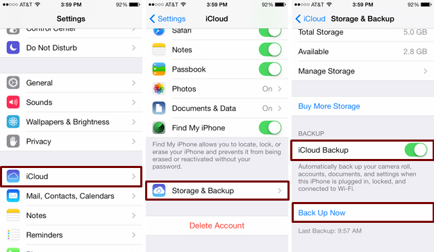 how to backup messages on iphone