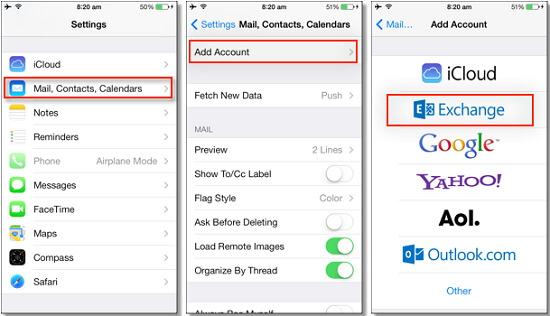 backup iphone contacts with email