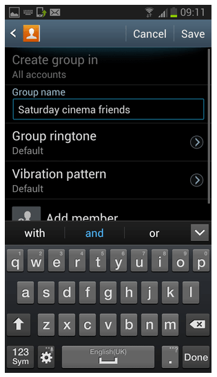 Best ways to send group messages with Android or iPhone-type a group name