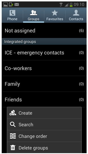 Best ways to send group messages with Android or iPhone-locate Groups option