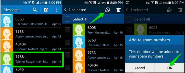 Block Spam Messages On Your Android and iPhone