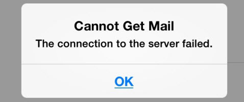 cannot connect to server iphone solved cannot get mail the connection to the server 8130