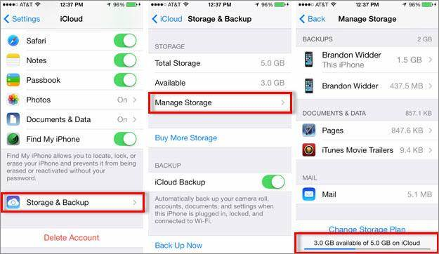 Delete Music On Iphone Check Icloud Storage