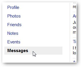 click one messages to recover facebook messages