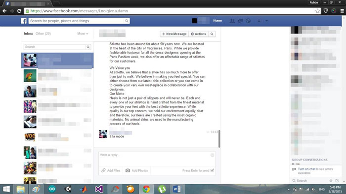 Delete facebook messages on facebook select facebook messages ccuart Gallery