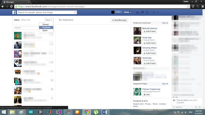 Delete facebook messages on facebook delete facebook messages completed ccuart Gallery