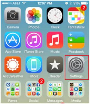 delete duplicate sonds on ipod/iphone/ipad-launch the settings app
